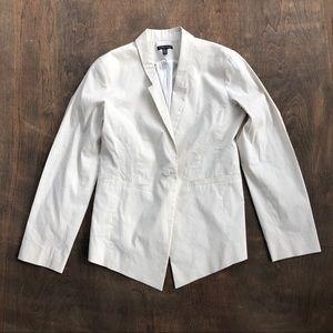 Eileen Fisher Blazer Jacket Ramie Stretch ivory 8